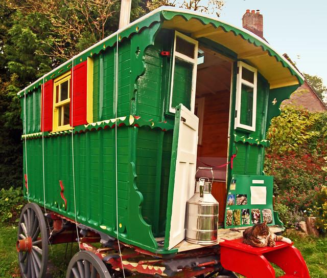 Traditional English Gypsy caravan