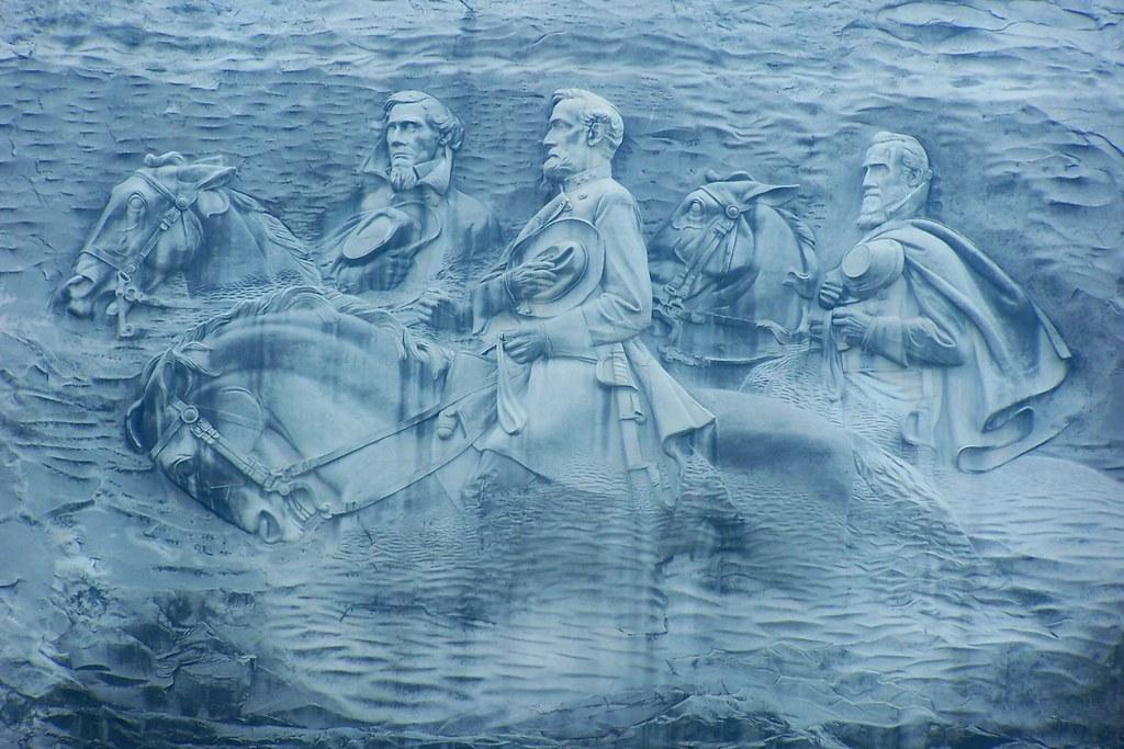 Confederate memorial carving stone mountain georgia