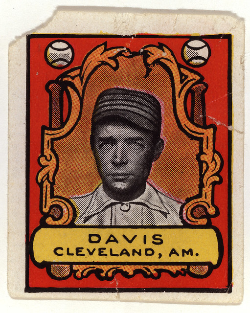 Harry Davis, first baseman, Cleveland Naps, 1912