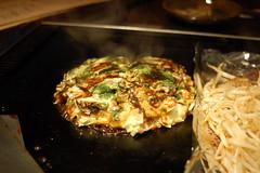 monjayaki, spaghetti, food, dish, cuisine, okonomiyaki,