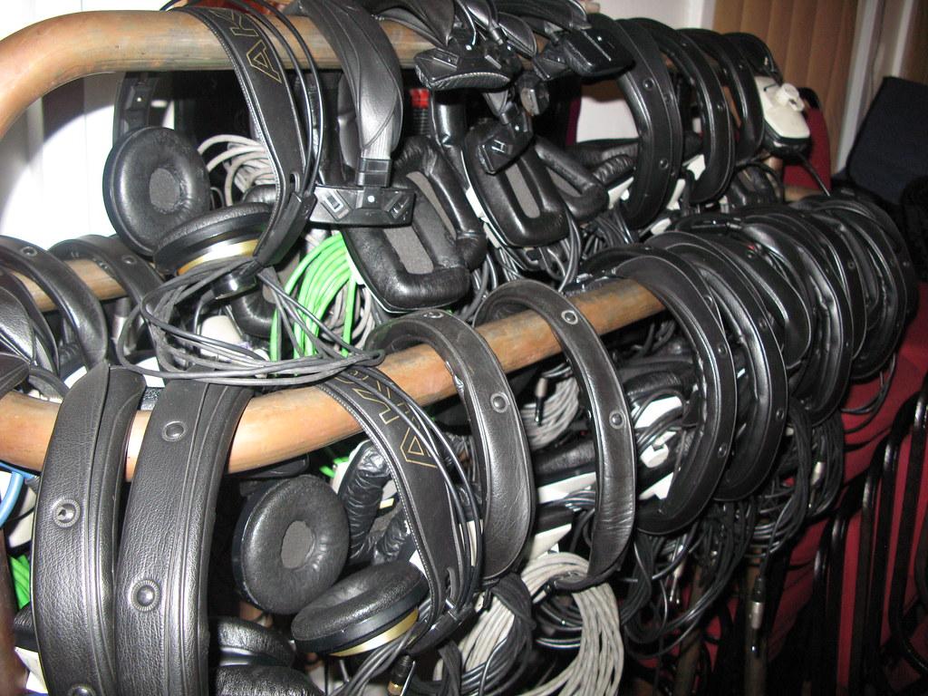 Headphones in Studio 2