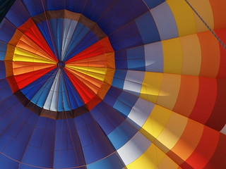 The inside of a Hot Air Balloon