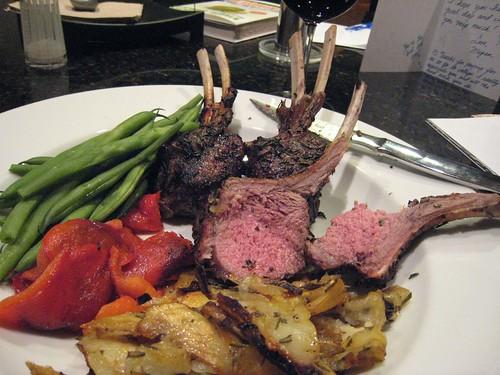 food, lambchops, lamb, roasted potatoes, gr… IMG_5938