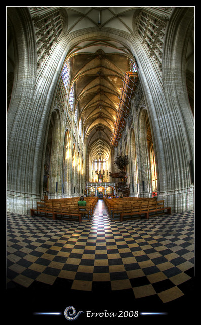 Step outside your frame - Sint Pieterskerk - Leuven - Belgium :: Fisheye - HDR
