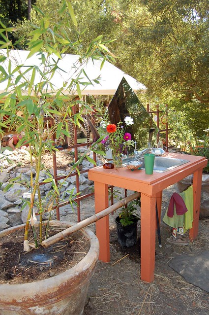 Outdoor Farm Sink : The outdoor sink at Deans farm It drains into the pot of ...