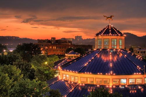 park sunset chattanooga dusk carousel merrygoround
