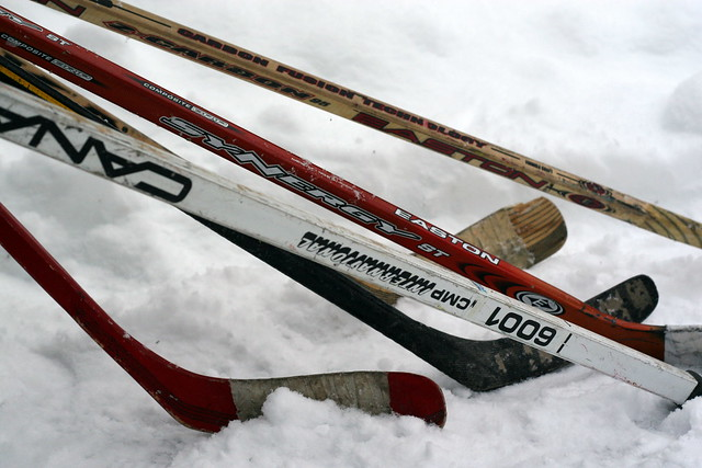 How to recycle hockey sticks