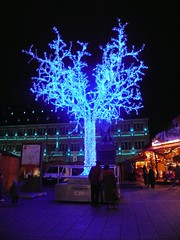 Tree made of lights in Strasbourg