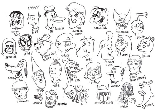 Famous (?) Cartoon Characters