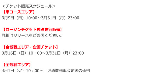 2014F1日本GPチケット発売スケジュール