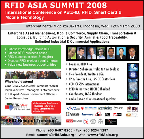 RFID Asia Summit 2008 | The RFID Asia Summit 2008 aims to ad… | Flickr