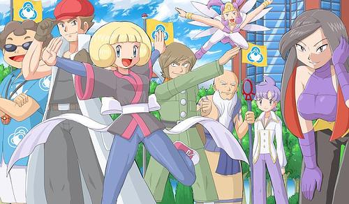 Pokemon Battle Frontier Brains Flickr Photo Sharing