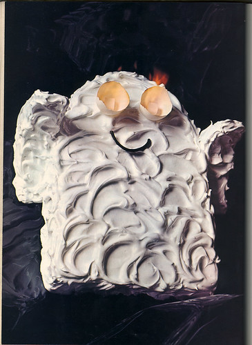 Ghost Cake with Flaming Eyes