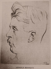 Sketch of the author Arnold Bennett 1920