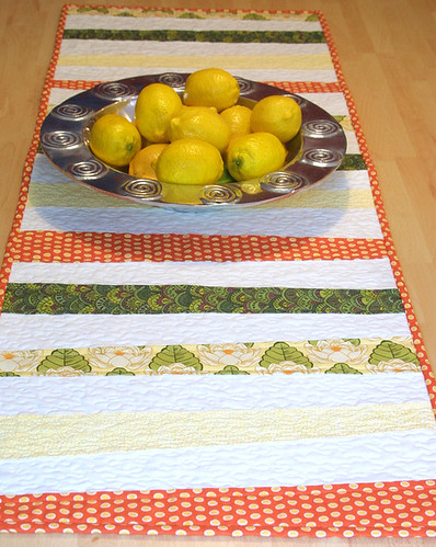 Citrus Punch table runner