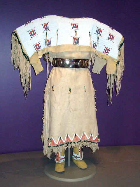 "NMAI_Woman's Buckskin Dress (White Shoulders)   ""Identi ..."