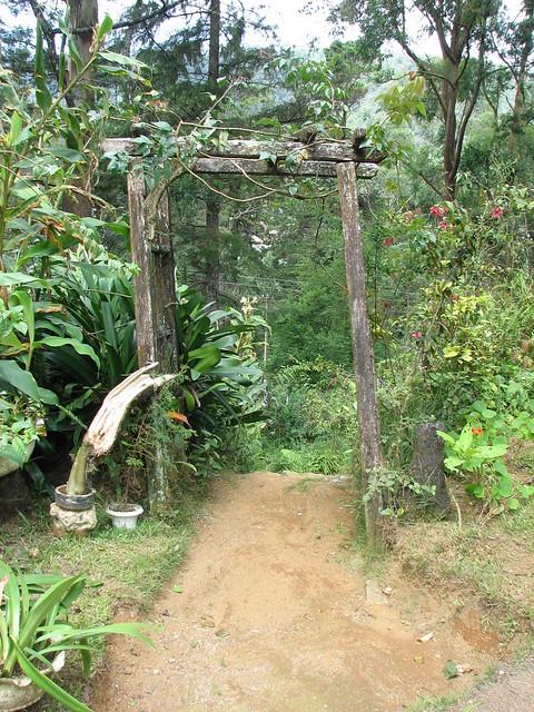 Wooden arch to garden Flickr Photo Sharing