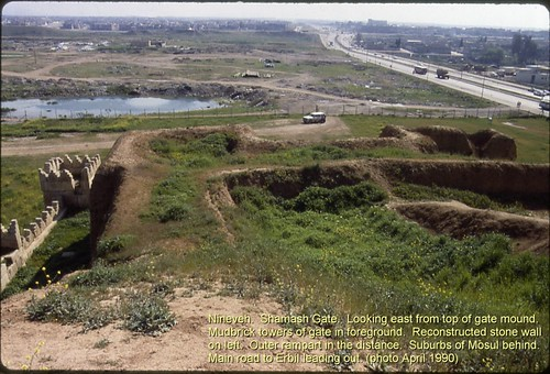 Nineveh. Shamash Gate looking east from top of gate mound.