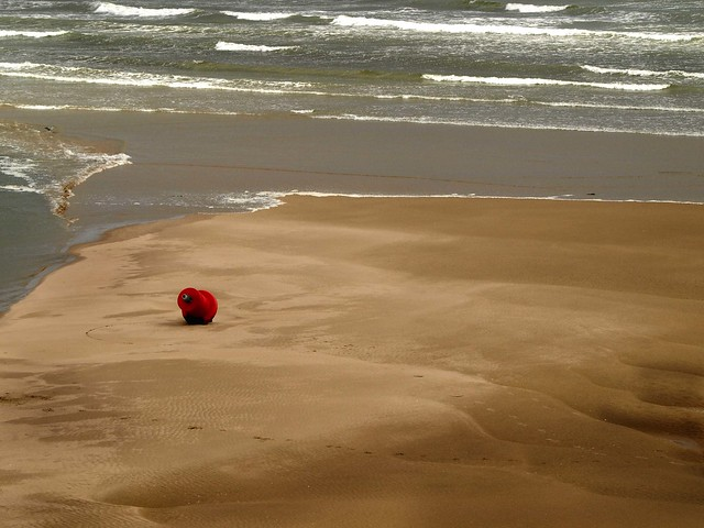 Port Bouy  at Low Tide