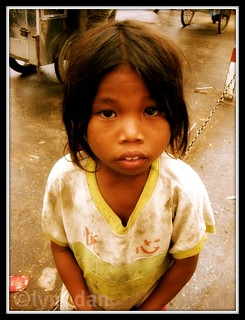 Khmer Begging Girl