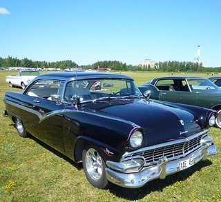 1956 Black Ford Fairlane Victoria