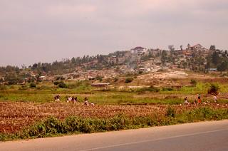 Ländlicher Alltag in Ruanda. Für ...