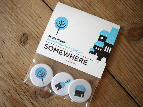 Somewhere 25mm badge set