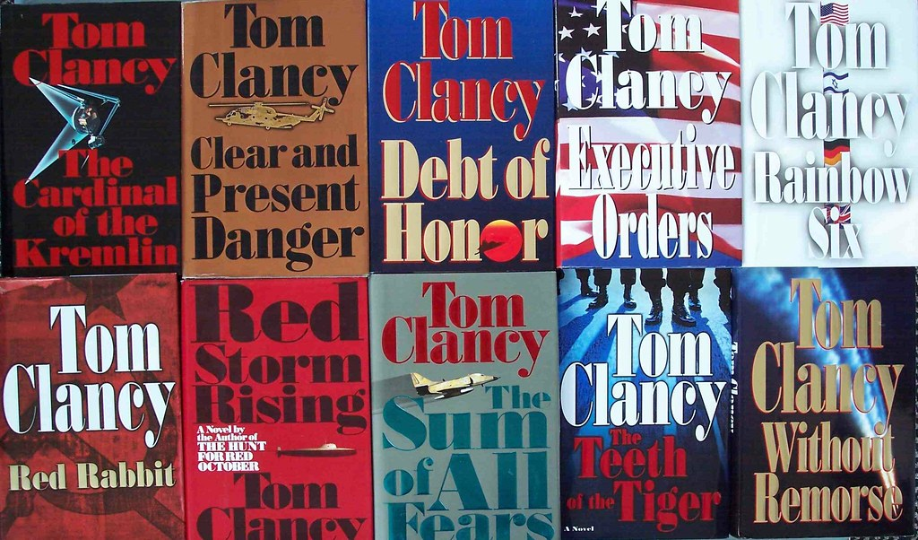Ten Tom Clancy paperback covers