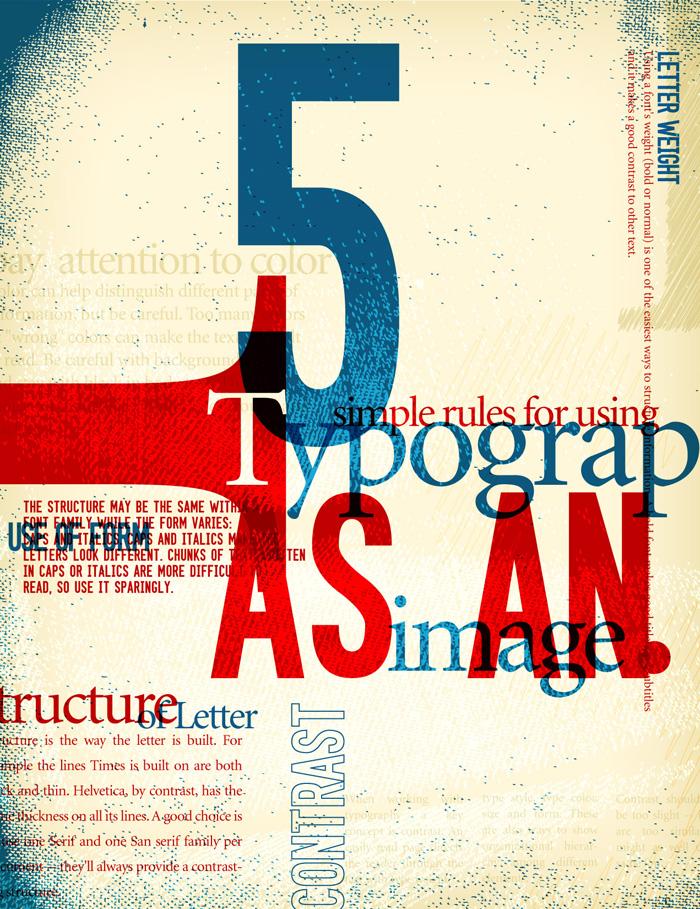 Typography In Poster Design Vector Tips