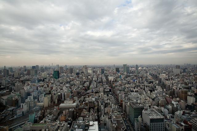 View from room at Mandarin Oriental Tokyo