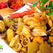 Peruvian food: Cau cau de mariscos