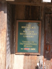 Photo of William Shakespeare green plaque