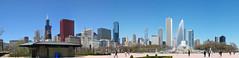 Buckingham Fountain and Chicago Skyline-Flkr