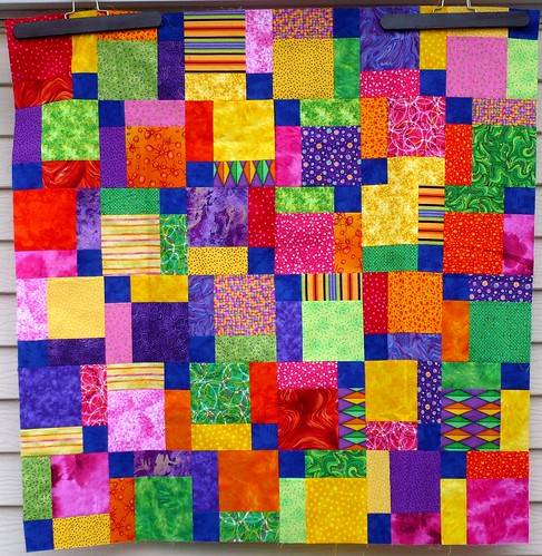 Quilt in a Day - Completed Tossed 9-Patches - El s Corner: Tossed Nine Patch: Eleanor Burns ...