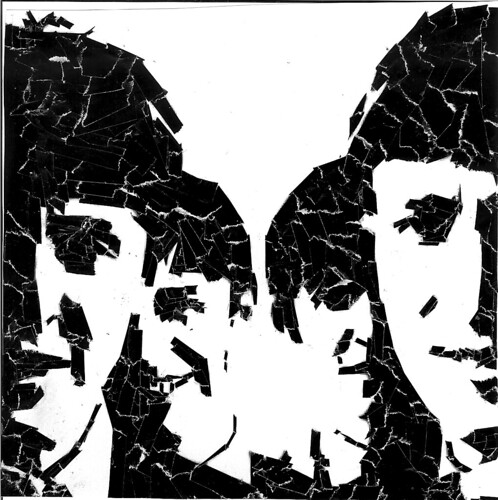 beatles torn paper collage by pinkisawayoflife