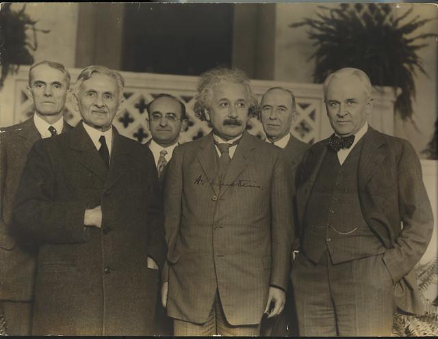 Portrait of Albert Einstein and Others (1879-1955), Physicist