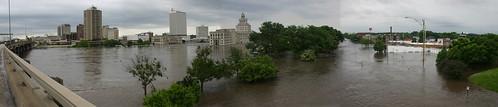 river flood rapids cedar 2008