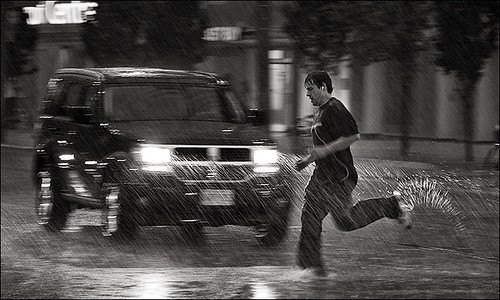 """rain runner"" by Sam Javanrouh"