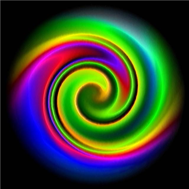 Dynamic glowing spiral