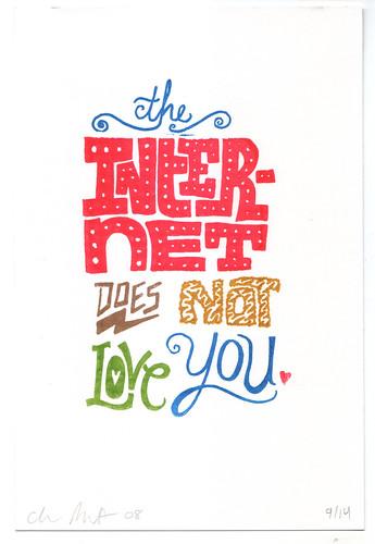 Internet Love Gocco print
