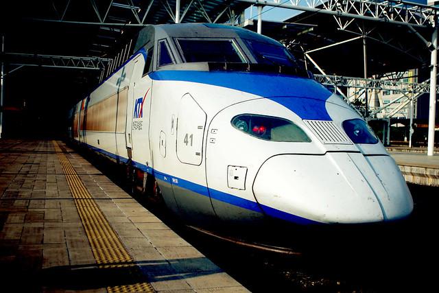 KoRail KTX highspeed train