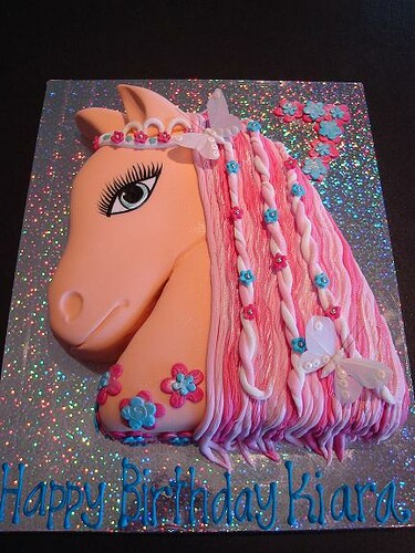 pink horse cakes