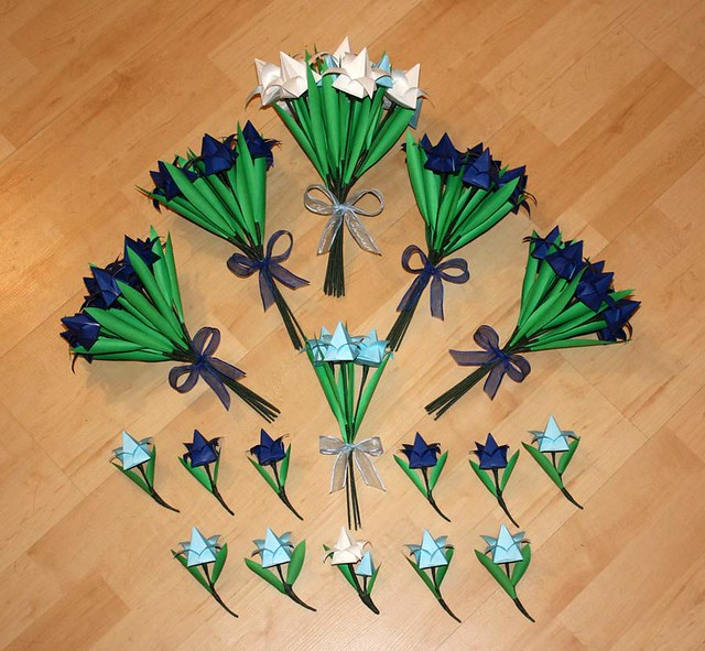 Origami Wedding Flowers: Origami Wedding Flowers