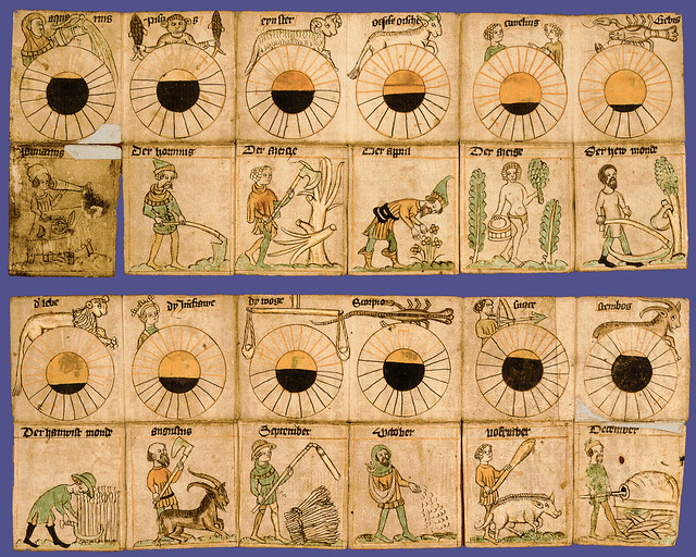 Taschenkalender - pocket calendar from about 1400 CE