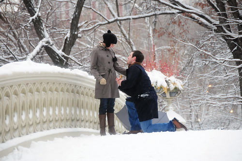 wintery engagement proposal