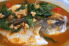 produce(0.0), curry(1.0), vegetable(1.0), fish(1.0), asam pedas(1.0), red curry(1.0), food(1.0), dish(1.0), soup(1.0), cuisine(1.0),