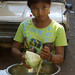Burmese Girl with Cabbage - Rangoon, Burma (Yangon, Myanmar)