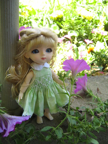 Brigit in the garden