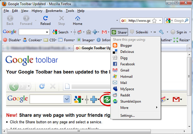 how to add google to my toolbar