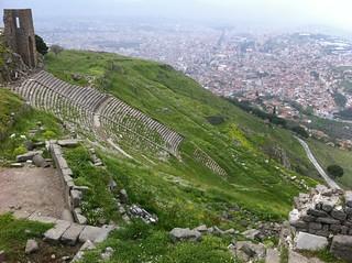 صورة  Pergamon قرب  Bergama.